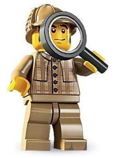Lego Lego Minifigür - Seri 5 - 8805 - Detective Renkli